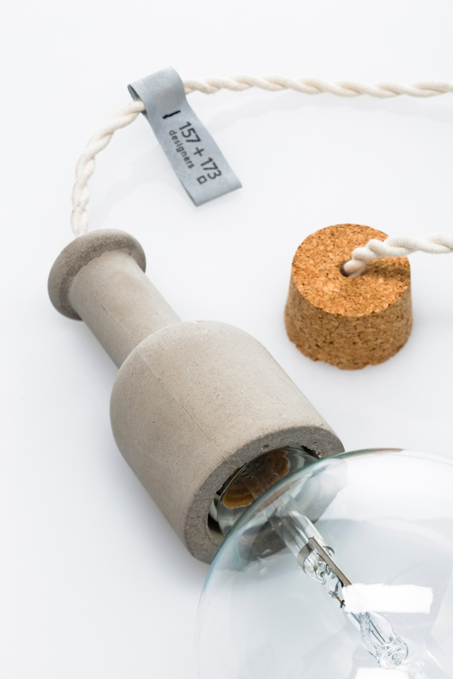 ceiling concrete lamp small 1